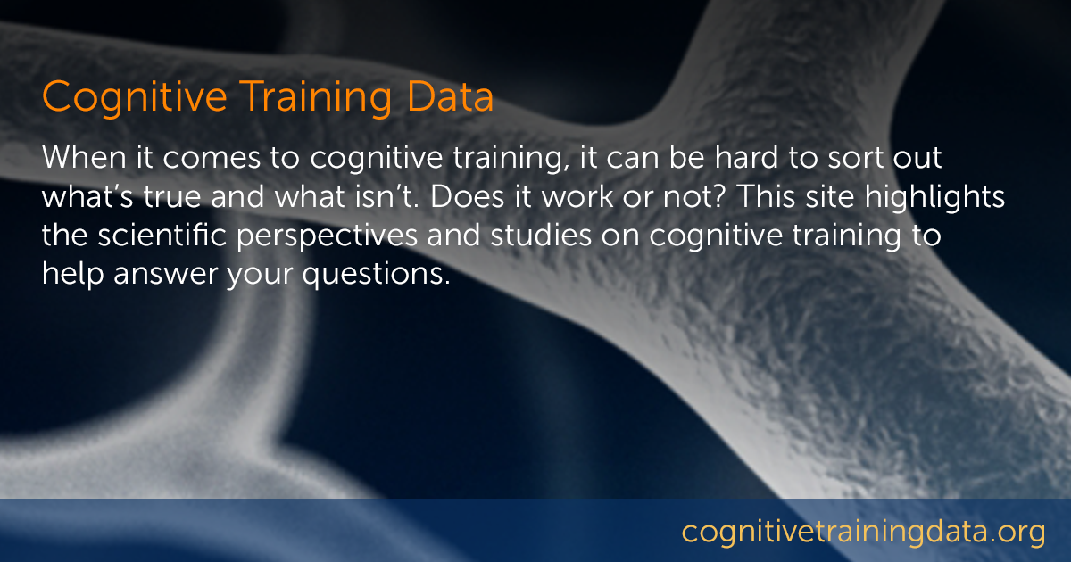 Published Papers - Cognitive Training Data